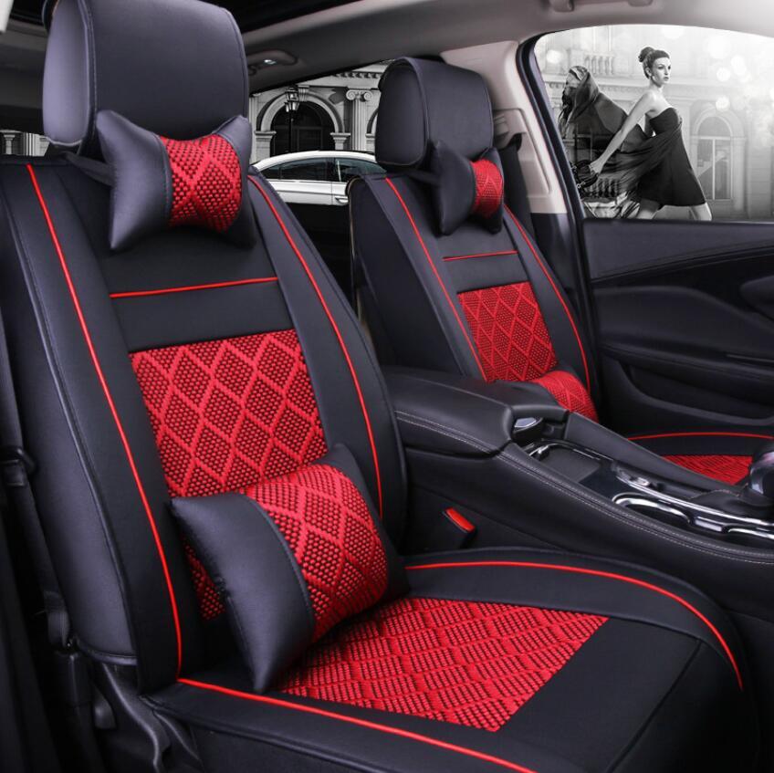 (Avant + arrière) housse de siège de voiture en cuir spécial pour Benz A B C D E S série Vito Viano Sprinter Maybach CLA CLK accessoires auto