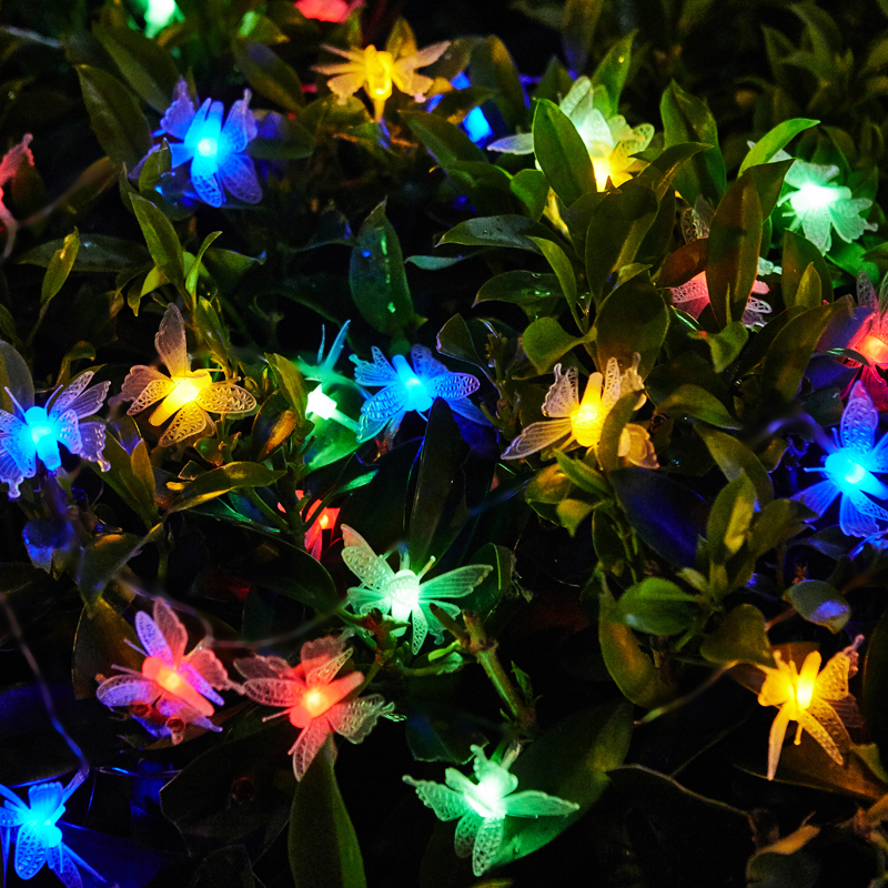 5m 10m Led String Fairy Lights Butterfly LED Wedding Holiday Christmas Lights Garlands Luces Led Decoracion Guirlande Lumineuse