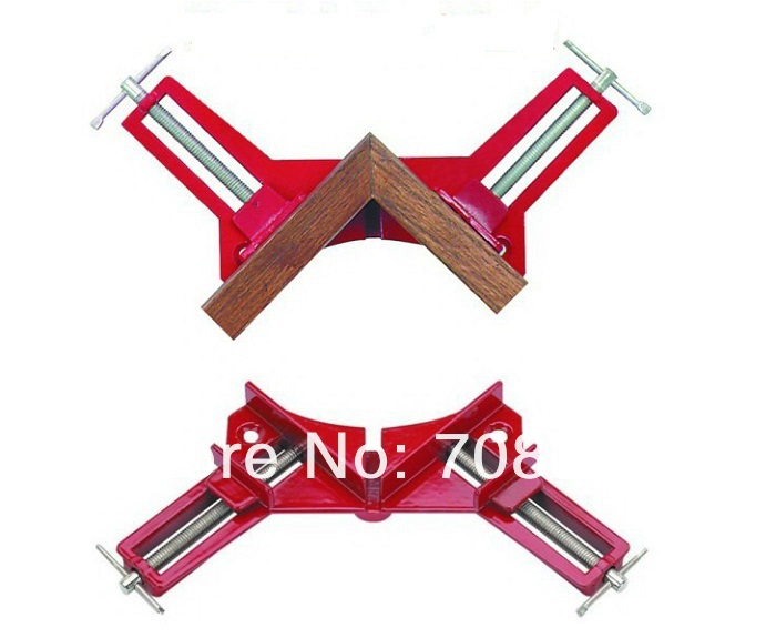 NEW 4PC Aluminum alloy 90 degrees angle clip Photo frame clamp Right angle folder Woodworking clip Frame folder