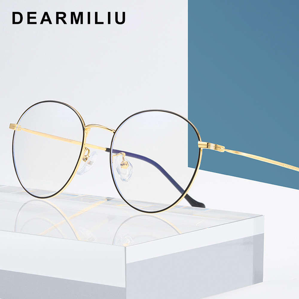 100% Quality Dearmiliu Oval Frame Rose Gold Anti Blue Light Blocking Glasses Led Reading Radiation-resistant Glasses Computer Gaming Eyewear To Be Distributed All Over The World