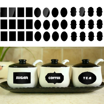 60pcs/set Blackboard Sticker Craft Kitchen Jars Organizer Labels Chalkboard-Free Shipping For Kitchen