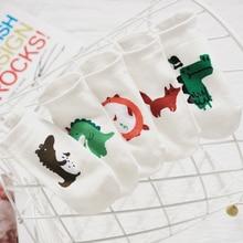 Knitting Dinosaur Women Socks Fashion Cotton Invisible Funny 1 Pair Dropship Suppliers