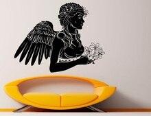 비닐 벽 스티커 여신 날개 기독교 천사 날개 종교 기독교 거실 침실 홈 장식 벽 전사 술 2cb1