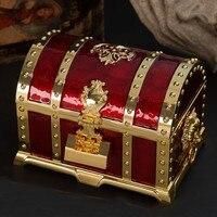 Europe Metal XL size Jewelry Storage Box Jewelry desktop organizer Treasure Chest 2 Layers Jewelry Case for home drcoration Z107