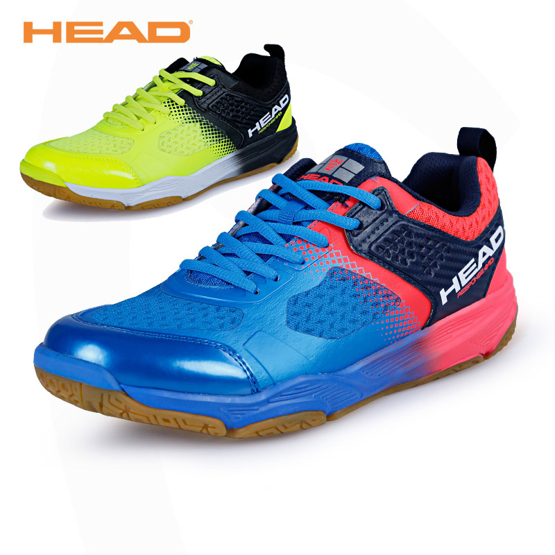 HEAD Breathable Badminton Shoes for Men Lace-up Sport Shoes Men's Training Athletic Shoe Anti-Slippery Tennis Sneakers