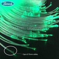 Maykit 450 м/Rl 3 шт. 0,75 мм Диаметр блеск Пластик волоконно-оптический кабель для сенсорных дети Спальня украшения