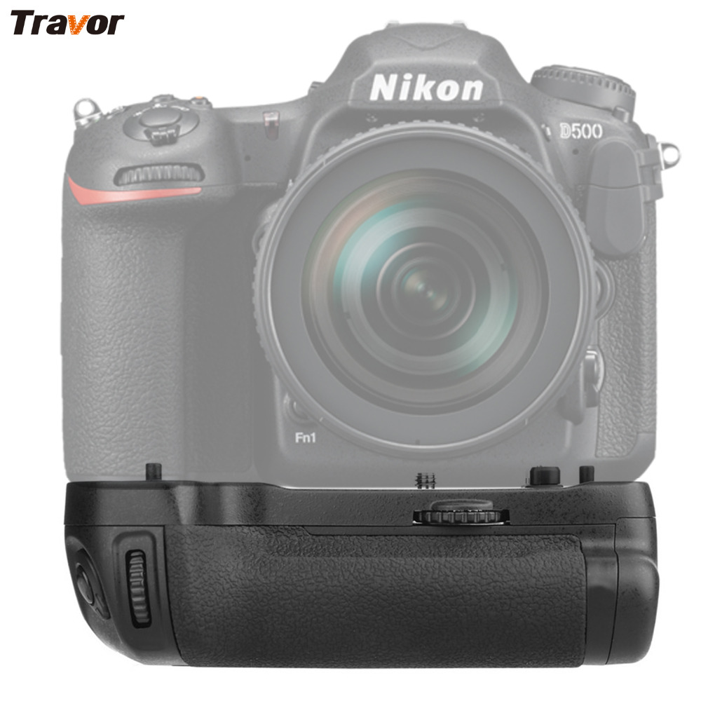 Travor Vertical Camera Battery Grip Holder For NIKON DSLR D500 Battery Handle Work With EN-EL15 Battery Replace MB-D17 travor vertical battery grip holder for nikon d850 mb d18 dslr camera battery handle work with en el15 battery