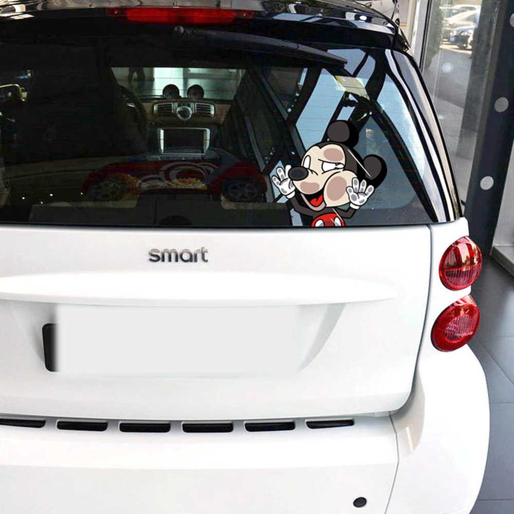 Aliauto автомобильный Стайлинг милый мультяшный Микки хит окна забавные Стикеры для автомобиля и наклейка для Volkswagen Polo, Golf Renault Ford Focus