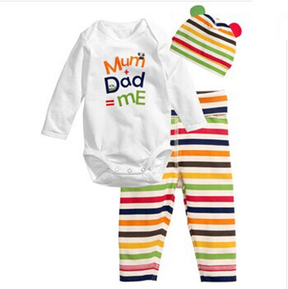 2017 New Spring Autumn Baby Suit Three-piece Cotton With Hat Suit Cute Animals Romper Triangle Cloth CL0765 матрас универсальный в коляску esspero baby cotton three lines 108068285