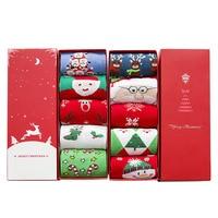 2017 New High Quality Women Christmas Socks Cartoon Socks Fashion Cotton Winter Socks 2 styles 5 Pairs/pack With Gift box