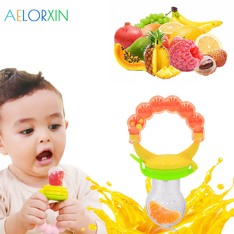 New Silicone Baby Pacifier Infant Nipple Soother Toddler Kids Pacifier Feeder For Fruits Food Nibler Dummy Baby Feeding Pacifier