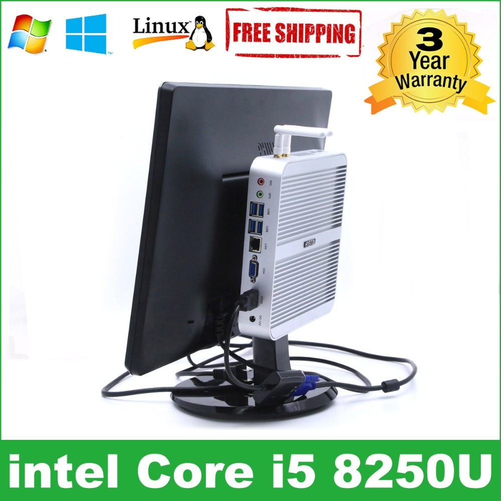 Intel Core I5 8250u Minipc I3 7100u Hystou Kaby Lake Fanless Mini Pc