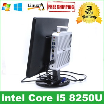 Intel Core i5 8250U minipc i5 7260U HYSTOU Kaby Lake Fanless Mini PC Windows Mini Computer Barebone i7 7660U pc