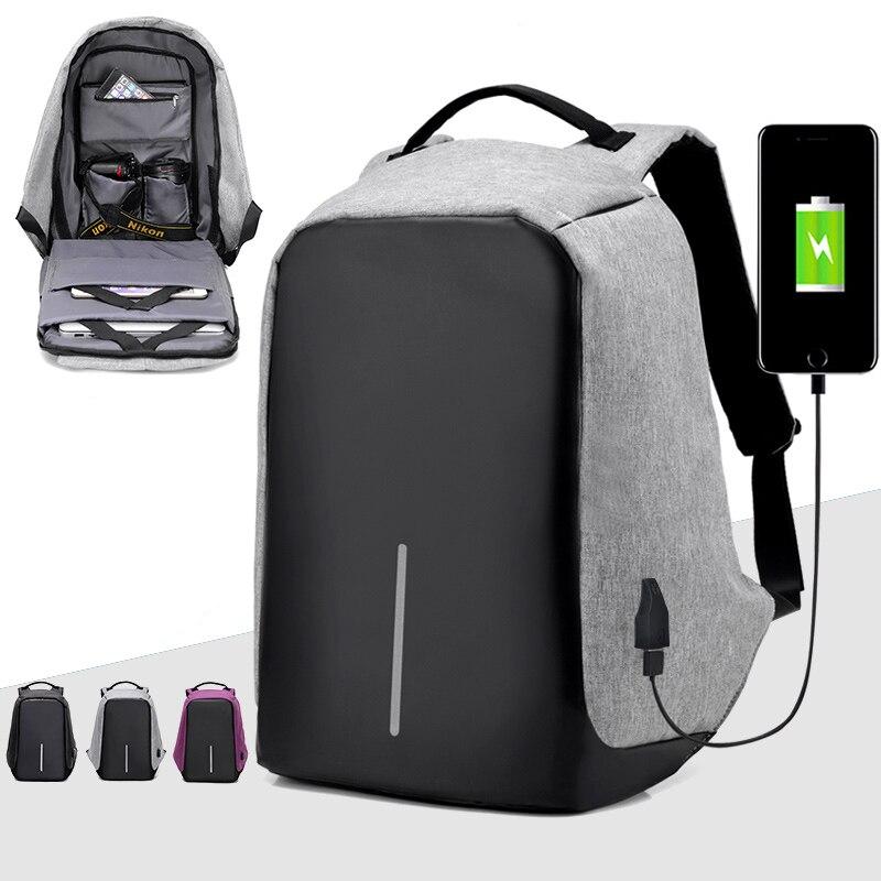 USB зарядка anti theft Тетрадь рюкзак Для мужчин Путешествия безопасности Водонепроницаемый Школьные сумки Колледж подростков мужчина 15 дюймовы...