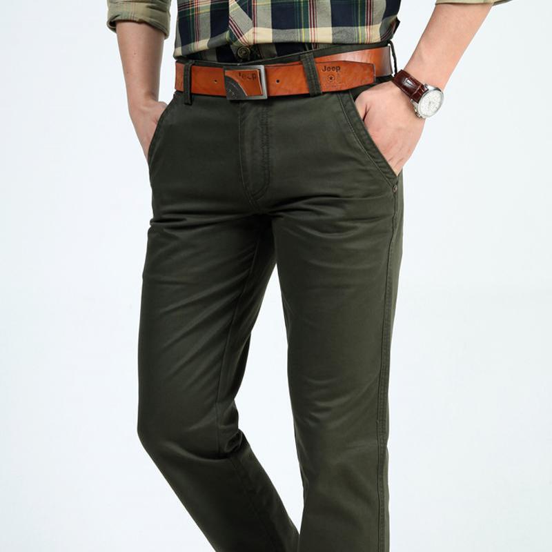 NIANJEEP Herren Hosen Casual Taschen Baumwolle Cargo Pants Männer - Herrenbekleidung - Foto 2