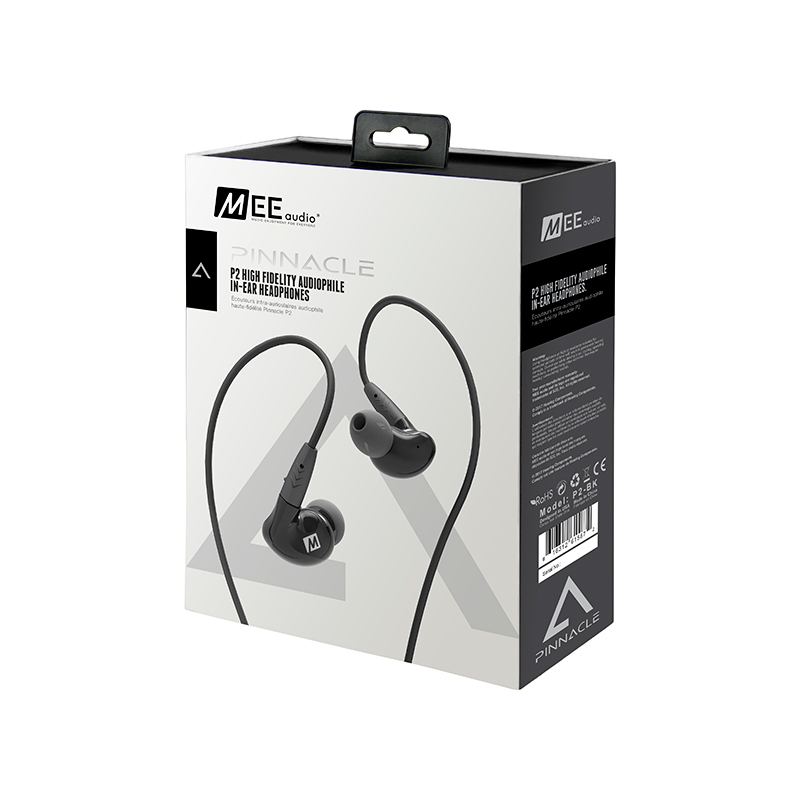 MEE audio PINNACLE P2 High Fidelity Audiophile In-Ear Headphones with Detachable Cables HIFI Bass Noise Isolating Earphone W/MIC mee audio m6 pro monitors bass hifi earphone noise isolating dj earphone in ear headset m6 black or white optional with box