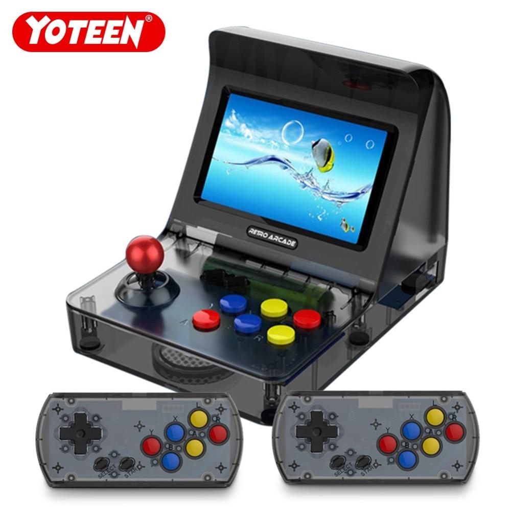 Yoteen Portable Retro Mini Handheld Game Console 4.3 Inch 64bit 3000 Video Games classical Family Game Console Retro Arcade цена и фото
