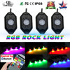 COLIGHT Led Rock Lights 4Pcs With Canbus And Remote Control For 4X4 Off Road Jeep Wrangler
