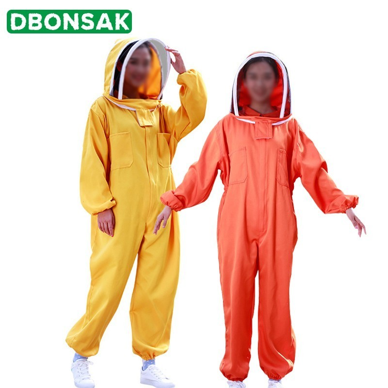 Apiculture Anti Bee Beekeeping Clothing Suit Apiculture Protetor Beekeeping Equipment Clothes Jacket Hat Suit Product Bee Tools