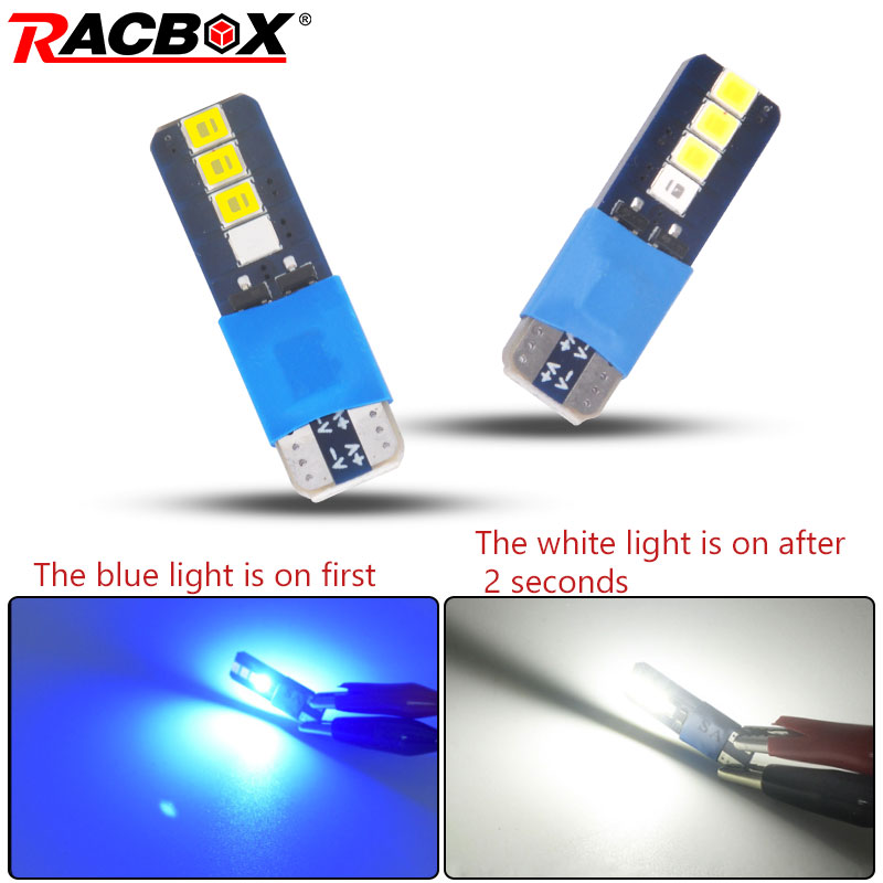 2pcs <font><b>T10</b></font> <font><b>led</b></font> Bi-colour reading light ice <font><b>blue</b></font> white for Dome Light clearance lamp daytime running light 12V 24V image