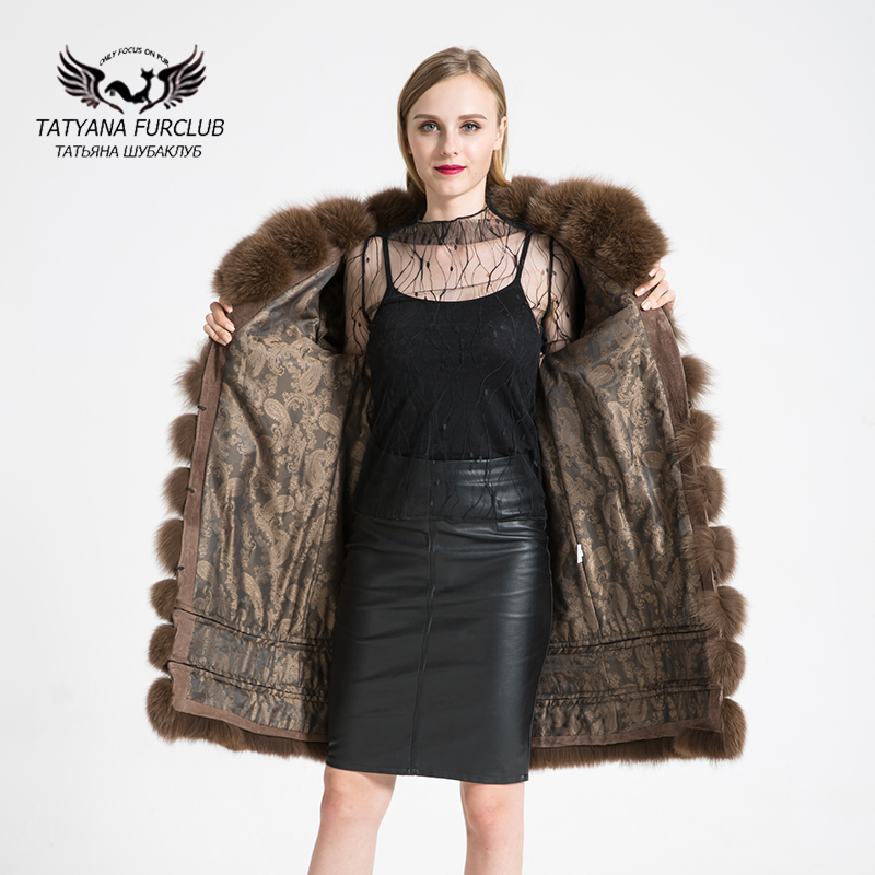 Tatyana Furclub Womens Real Natural Fox Fur Coat,Fur Coat Natural Fur Female Jacket Custom,Top Quality Winter Womens Fur Coat