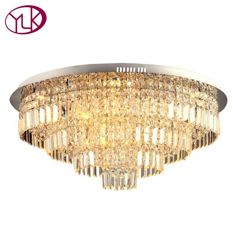 Youlaike Modern Crystal Ceiling Light For Living Room Large Home Decoration Lighting Fixtures LED Lustres De Cristal