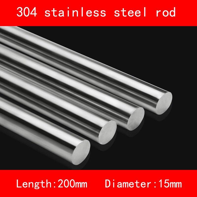 все цены на Smooth surface anti-corrosion 304 Stainless steel rod diameter 15mm length 200mm онлайн