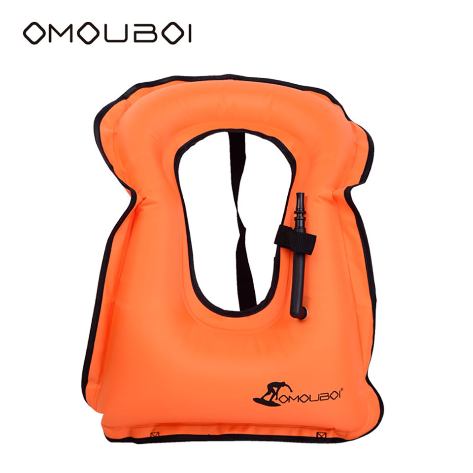 OMOUBOI Kids Orange Inflatable Swimming Buoy Ultra Lightweight Horse Collar Swim Vest Floating Aid Facility In Water Activities