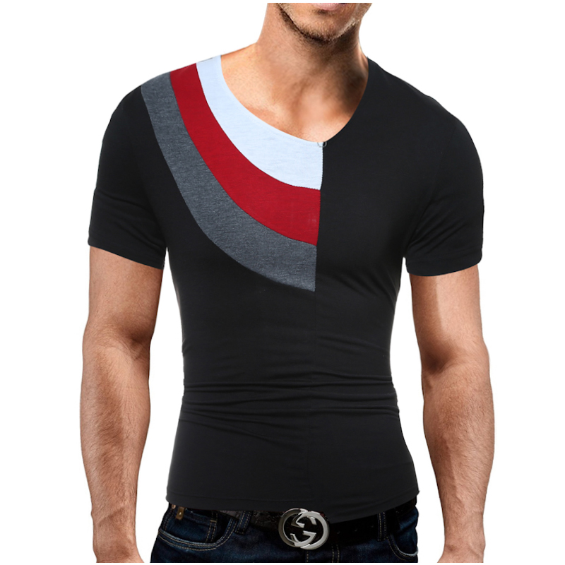 Men Leisure Brand 2017 Summer Fashion Men Collar Patchwork Design Men S T Shirts T Shirt