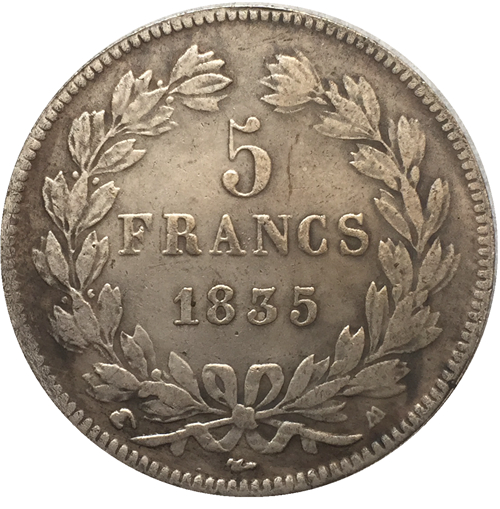 1835 FRANCE 5 F COIN COPY FREE SHIPPING