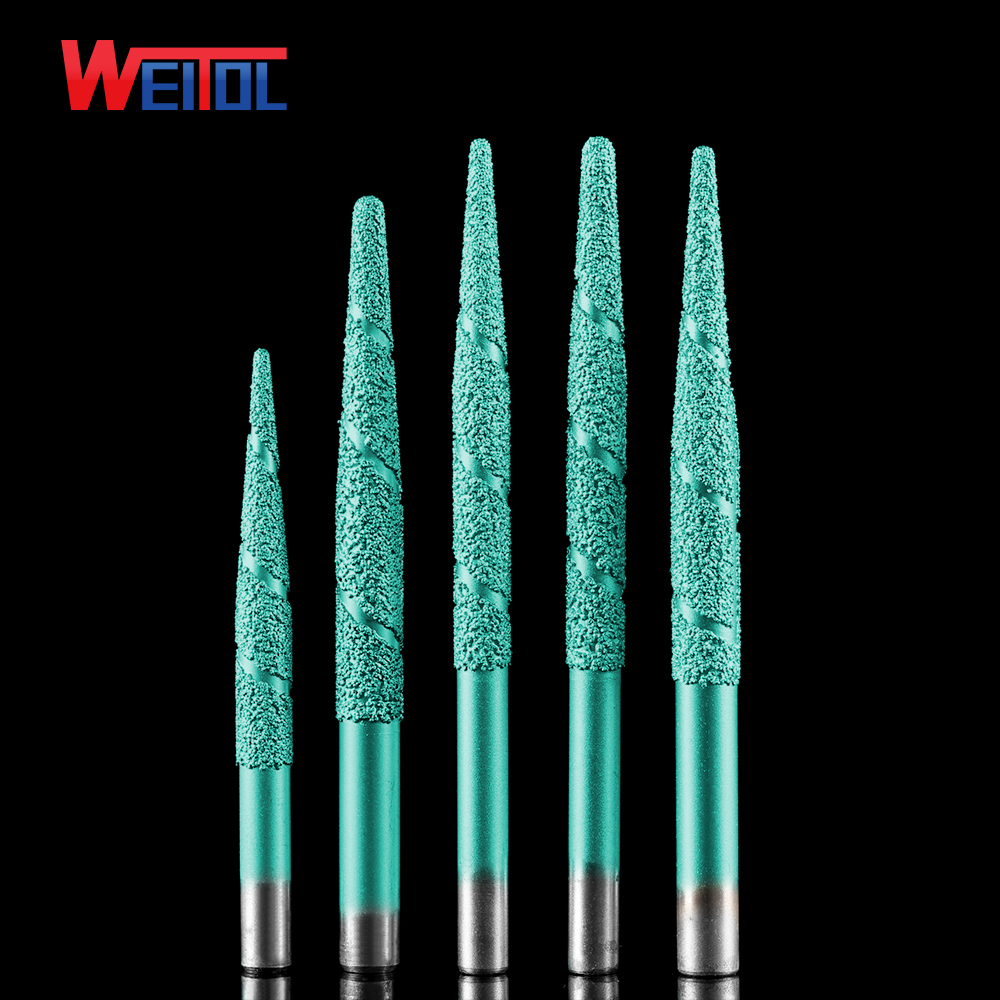 Weitol free shipping Brazing stone engraving bits marble carving tools CNC router machine