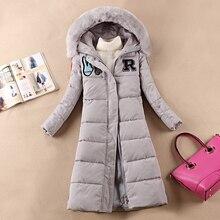 Новый повседневная мягкий зимнее пальто женской моды Тонкий длинные участки толстая Куртка женщин вниз пальто Ветровка
