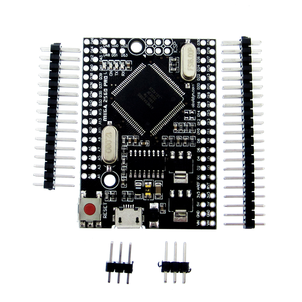 Mega 2560 PRO (Embed) CH340G/ATmega2560-16AU, with male pinheaders. Compatible for Mega 2560