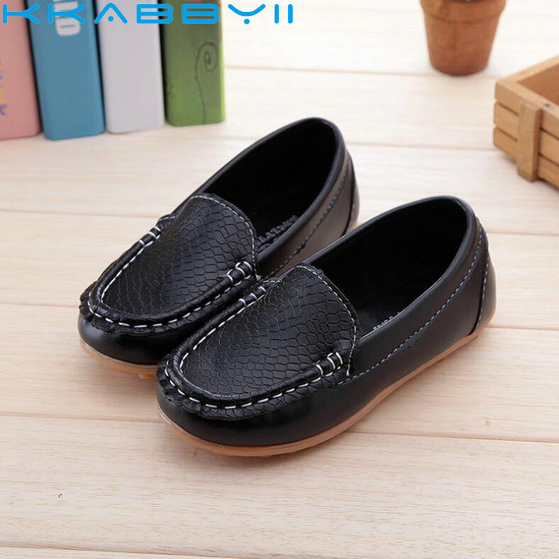 New Fashion Kids shoes all Size 21- 36 Children PU Leather Sneakers For Baby shoes Boys/Girls Boat Shoes Slip On Soft