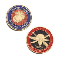Gold Plated U.S. Marine Corps Core Force Recon Challenge Commemorative Coin Gift BTC398