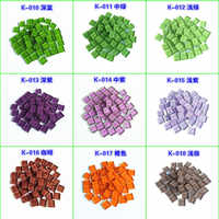 100g/lot 10*10mm Mosaic Making Square Clear Glass Mosaic Tile DIY Baby Puzzle Art Crafts Tool Kits Transparent Free Stone Decor
