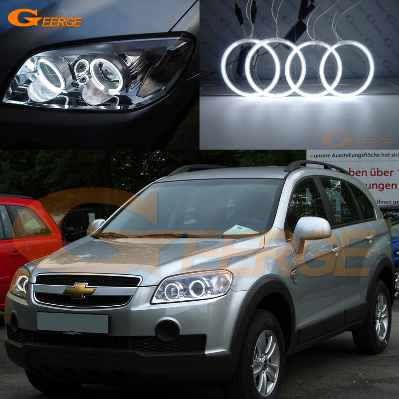 For Chevrolet Captiva S3X 2006 2007 2008 2009 2010 Excellent Ultra bright illumination CCFL angel eyes kit Halo Ring