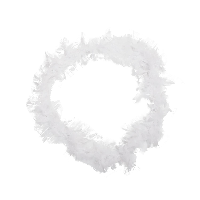 BFYL White Feather Boa Fluffy Craft Decoration 6.6 Feet Long