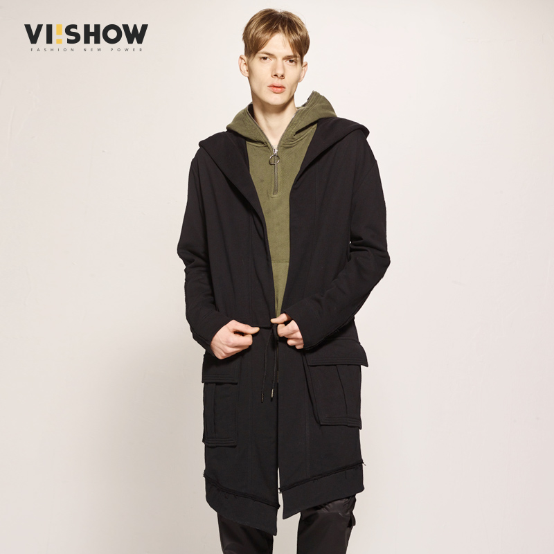 48d95ac8d28 VIISHOW 2017 Trench Coat Mew Arrival Male Trench Coat Male Outerwear Trench Black  Jacket For Male Brand Clothing FC1217171-in Trench from Men's Clothing & ...