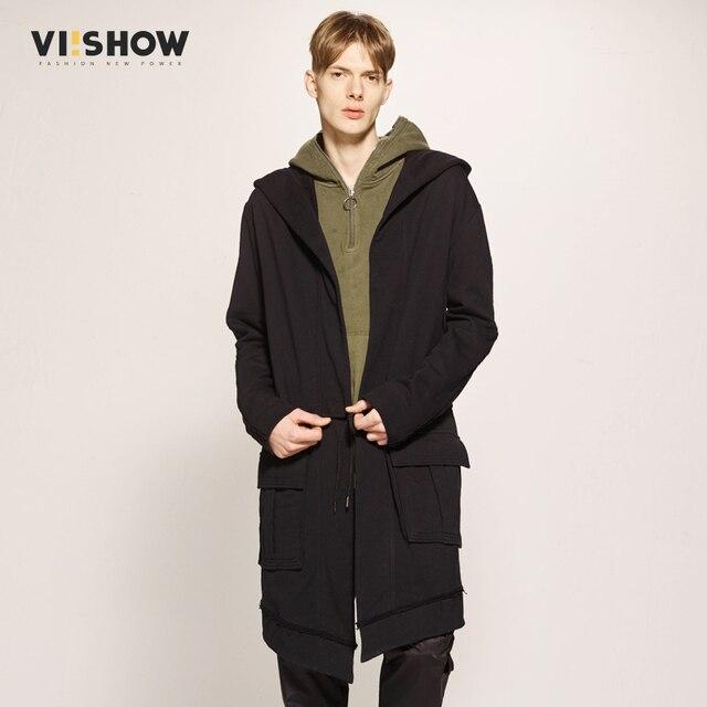 b233d4ebd1b VIISHOW 2017 Trench Coat Mew Arrival Male Trench Coat Male Outerwear Trench Black  Jacket For Male