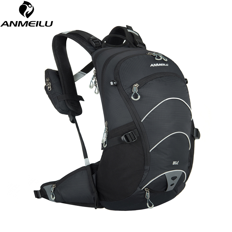 ANMEILU 20L Waterproof Bicycle Backpack Women Men Supension Cycling Backpack Outdoor Climbing Bag with Rain Cover