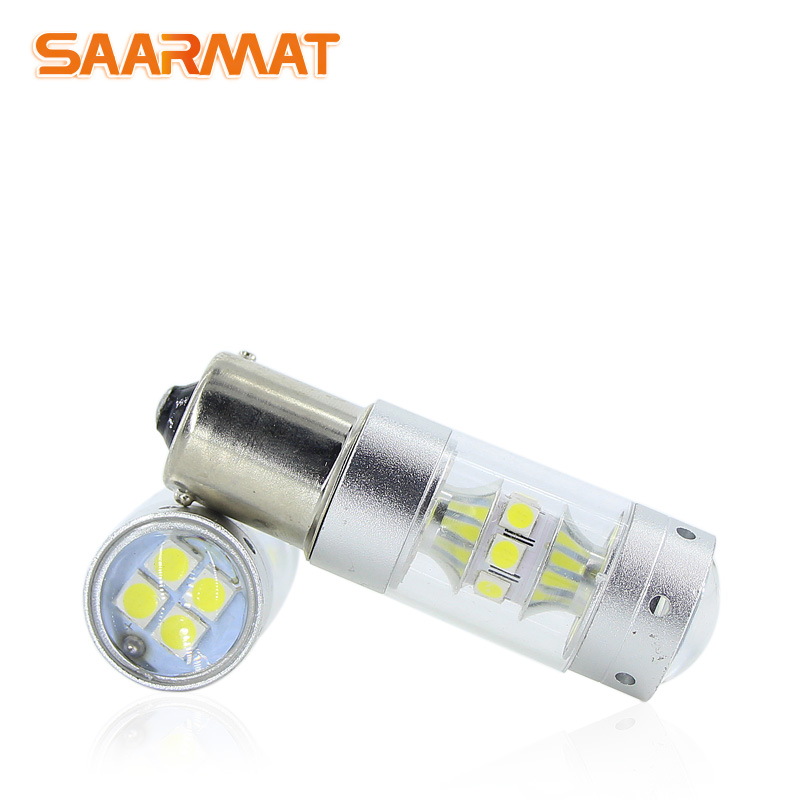 2* LED 1156 BA15S P21W lamp Car DRL Fog Light reverse lights bulb 12V For Volkswagen <font><b>VW</b></font> Transporter T4 <font><b>T5</b></font> Taro Touareg Touran image
