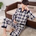 Homens roupão de banho Pijama Conjuntos de Pijama Dos Homens Sleepwear Inverno 317