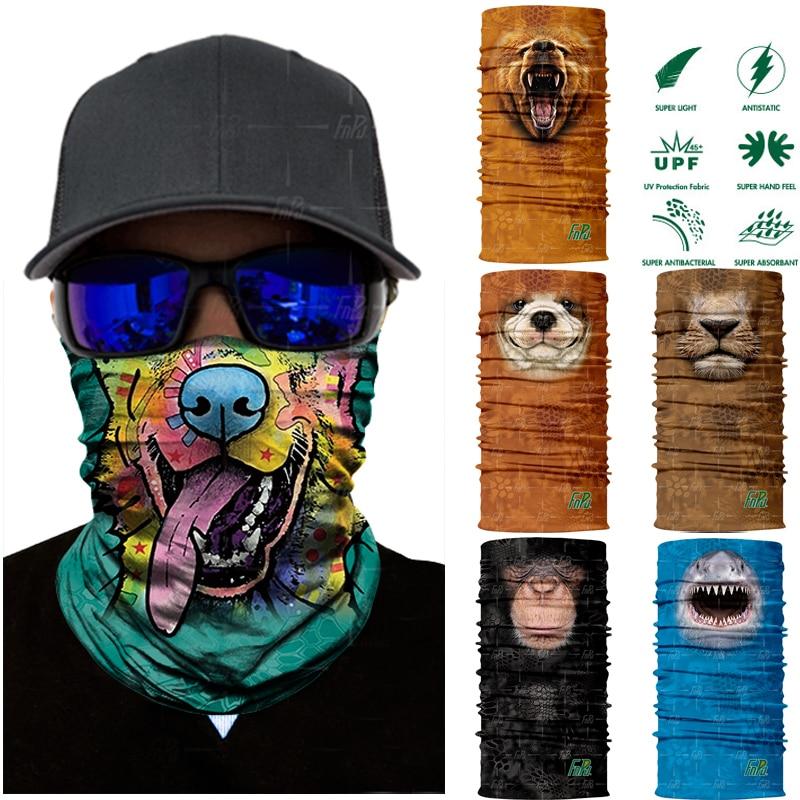 3D Seamless Animal Shark Cat Neck Tube Warmer Face Mask Halloween Motorcycle Bicycle Head Scarf Headband Half Bandana Headwear