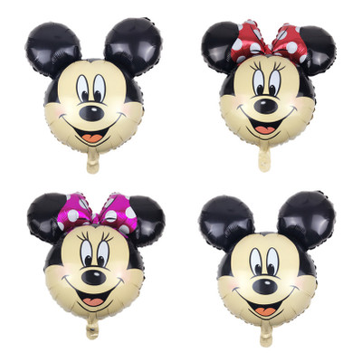 Lucky 50pcs lot 70 65cm Cartoon Mickey Minnie Balloon Head Foil Helium Balloons Birthday Party Supplies