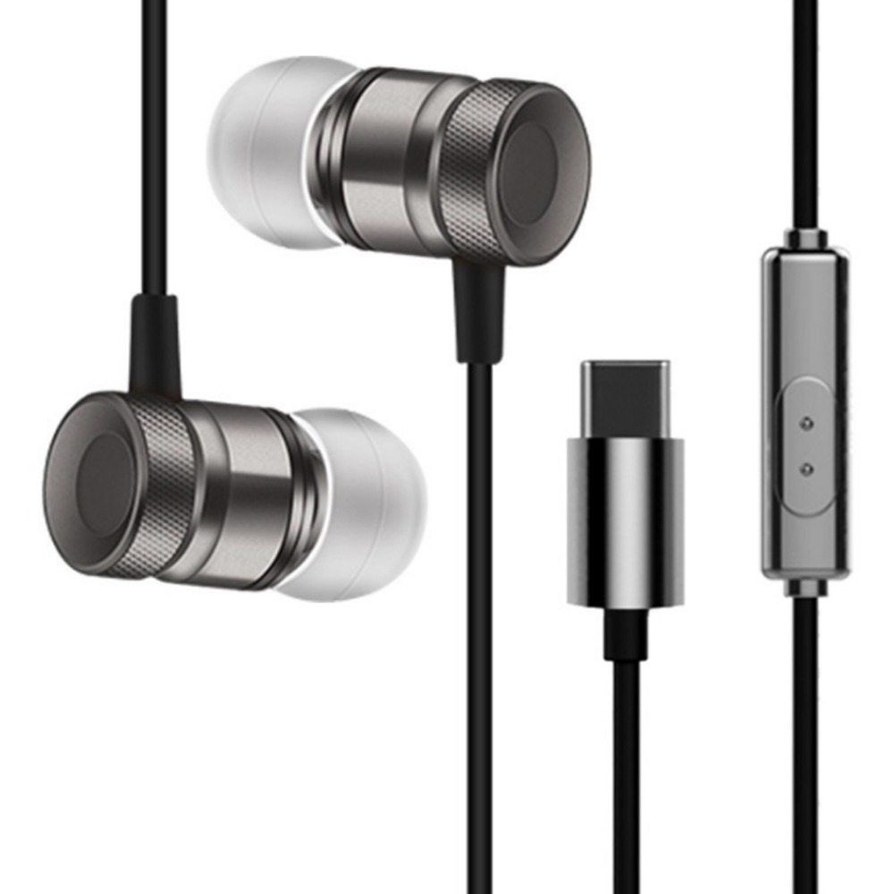 Original USB Type-C In-Ear Metal Earphone Digital Earphone hifi earbuds with microphone  for  Letv LeEco Le 2 max 2 Pro 3 Mp3 Mp original senfer dt2 ie800 dynamic with 2ba hybrid drive in ear earphone ceramic hifi earphone earbuds with mmcx interface