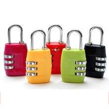1pc zinc alloy 3 digit combination suitcase safety travel password lock mini portable luggage lock TSA