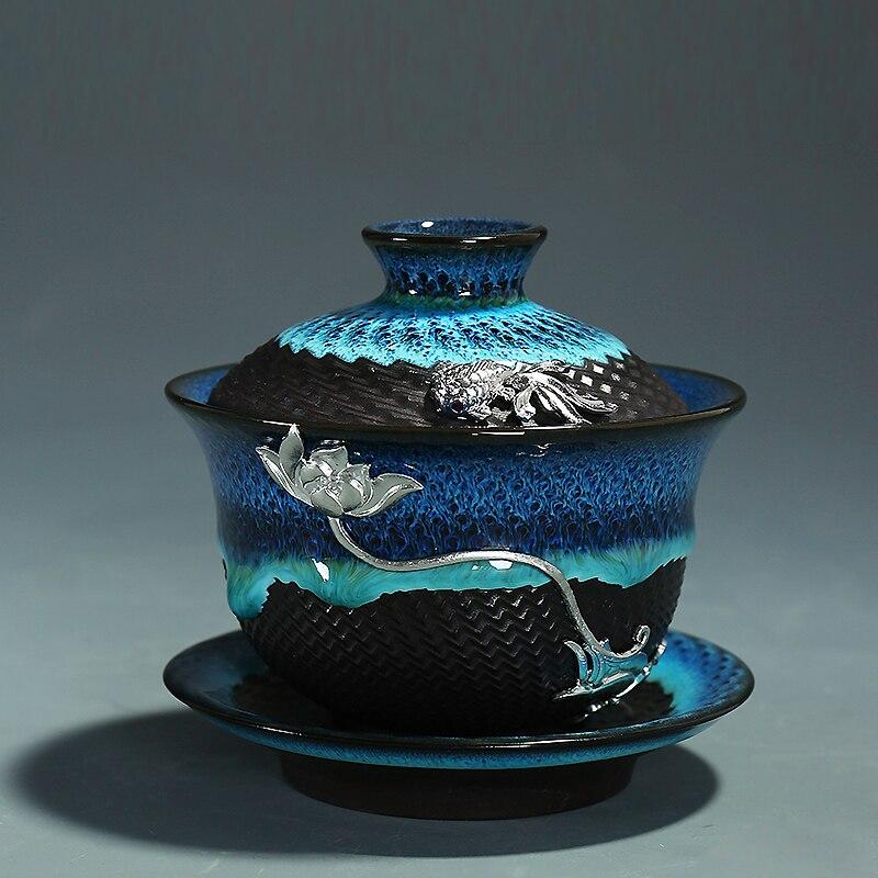 Creative Colored Ceramic Gaiwan Bowls