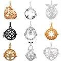 Eudora 9PCS 20mm Pregnancy Ball Pendant Harmony Bola Pendants Necklace Angel Caller Floating Locket Cage Necklaces DIY Jewelry