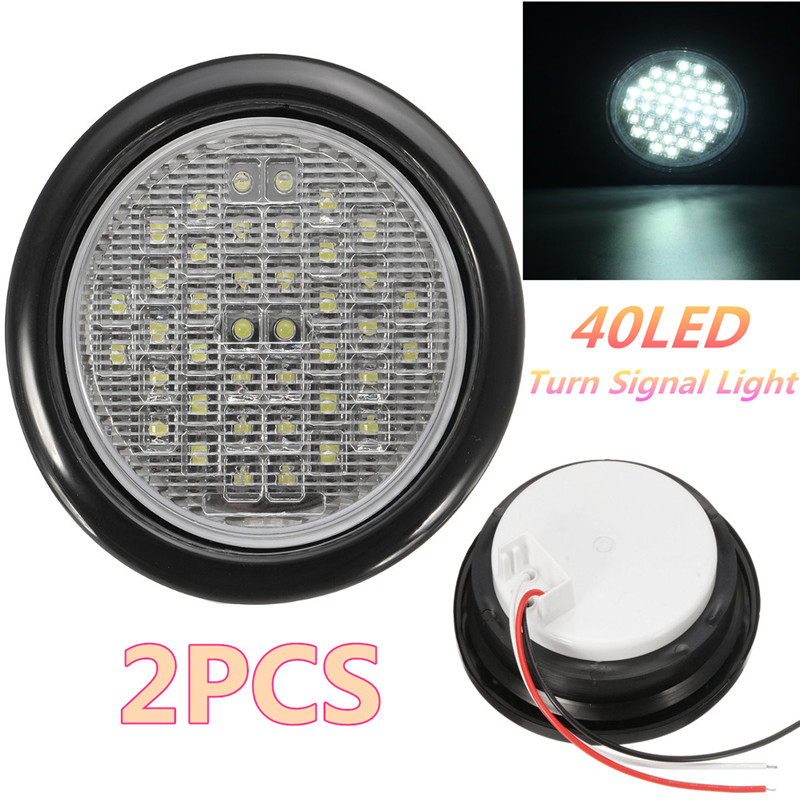 4 Inch 40Led Truck Trailer Lights DC 12 LED Car Stop/Turn/Tail Self-Contained Round Waterproof LED Truck Lights